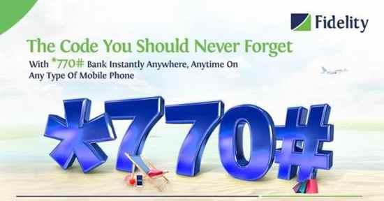 Fidelity *770# Instant Banking