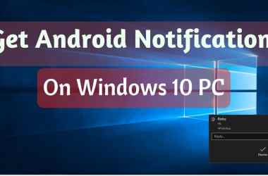 android notifications on windows 10 PC