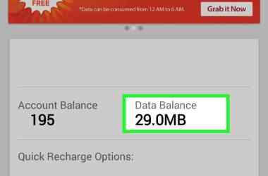 Data Balance on Airtel