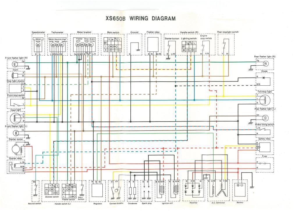 XS650: 75 XSB 76 XSC Wiring Diagram | thexscafe