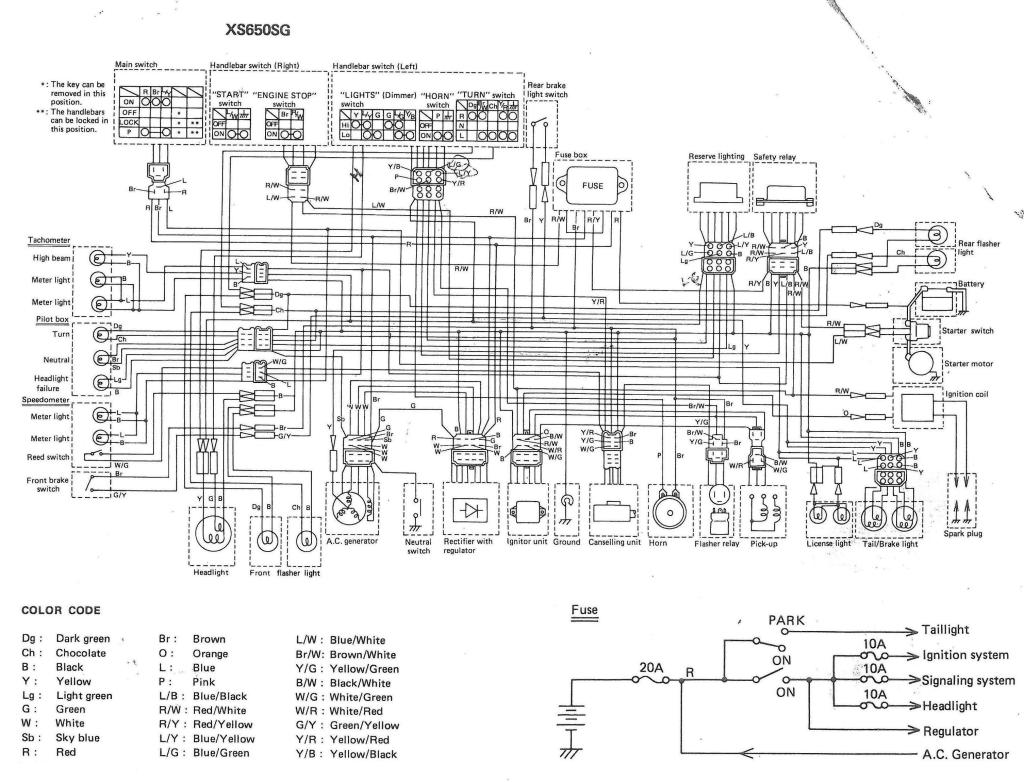 XS650: 80 XS650G and SG Wiring Diagrams | thexscafe