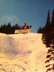 L.A. Fielding snowboarding