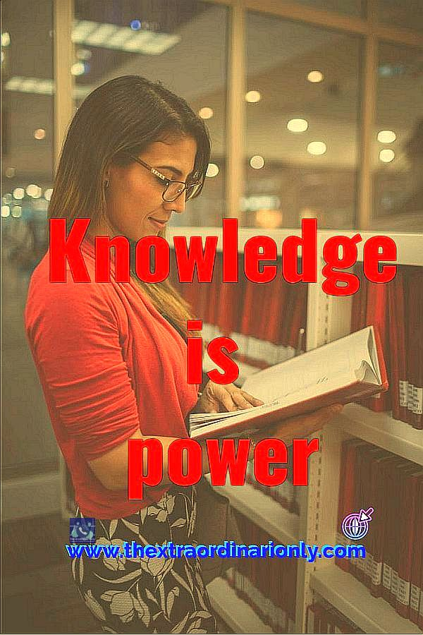 thextraordinarionly knowledge is power quote in earn money monthly online blog post pin