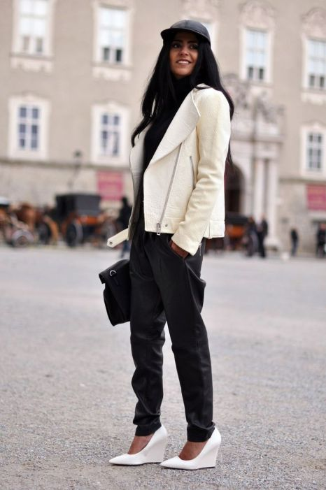 TREND_INSPIRATION_LEATHER_BAGGY_SWEATPANTS_THEXTYLE_ SS-2014_LOOSE_WHITESHOES