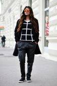 TREND_INSPIRATION_LEATHER_BAGGY_SWEATPANTS_THEXTYLE_ SS-2014_MIRRORGLASSES