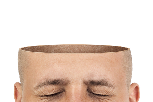 Man with empty head
