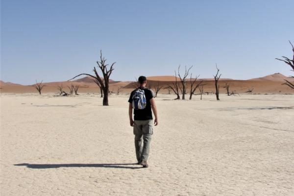 Man in the desert.