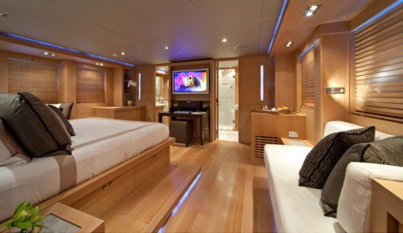 Palmer Johnson Superyachts   New Heights of Luxury Palmer Johnson SportYacht 120   Cabin