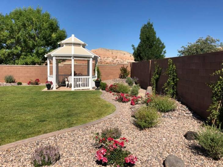 English style garden landscape in St. George Utah