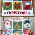 9 Free C2c Crochet Christmas Blankets Afghans The Yarn Crew