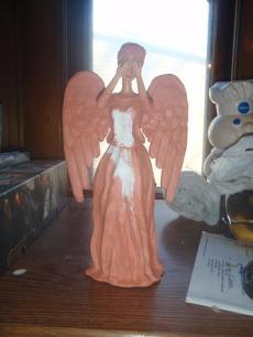 DIY Weeping Angel Tree Topper by Cynthia at The Creative Crossing