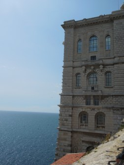 The museum is right above the sea.