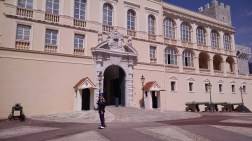 The Palais, complete with guard.