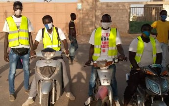 Campagne de sensibilisation de l'organisation Brigade Motorisée Anti-Covid