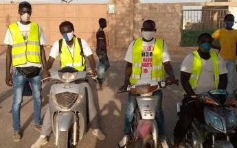 Senegal Sensibilisierungskampagne der Organisation Brigade Motorisée