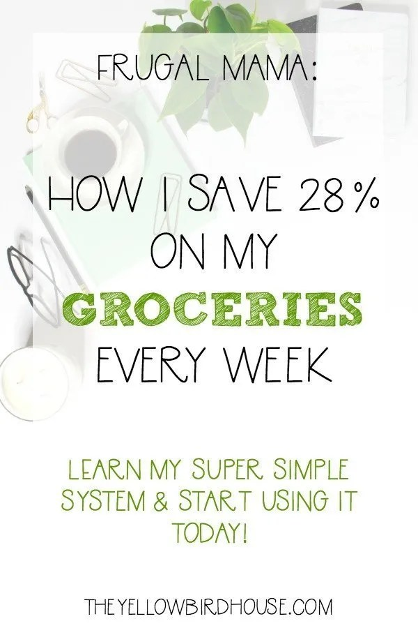 Frugal Mom: Learn my simple system for saving 28% on your grocery bill!
