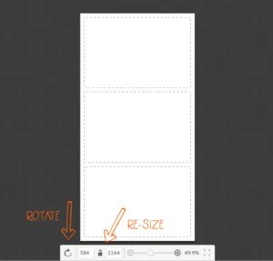 Rotate and Re-size the pin so it's optimized for pinterest