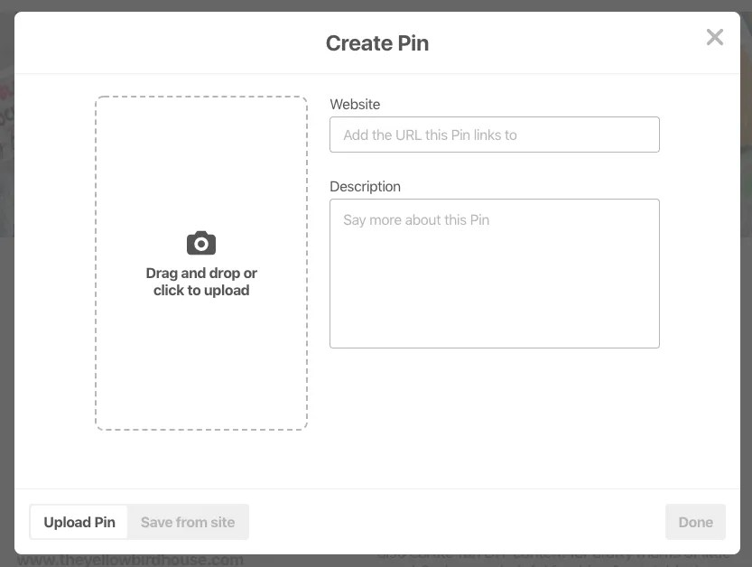 How to add a custom pin to pinterest