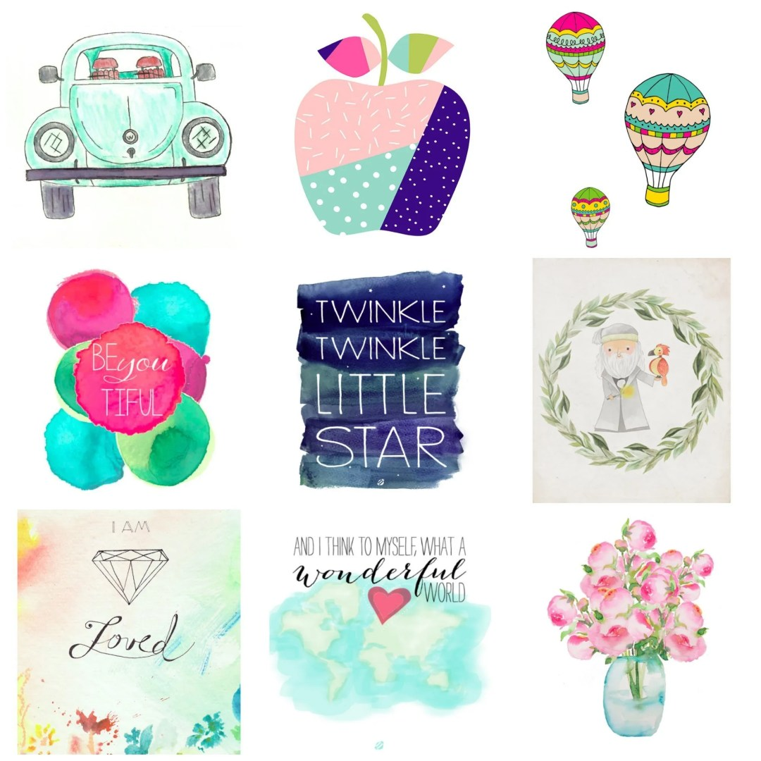 Adorable free printable art suitable for a child's bedroom.