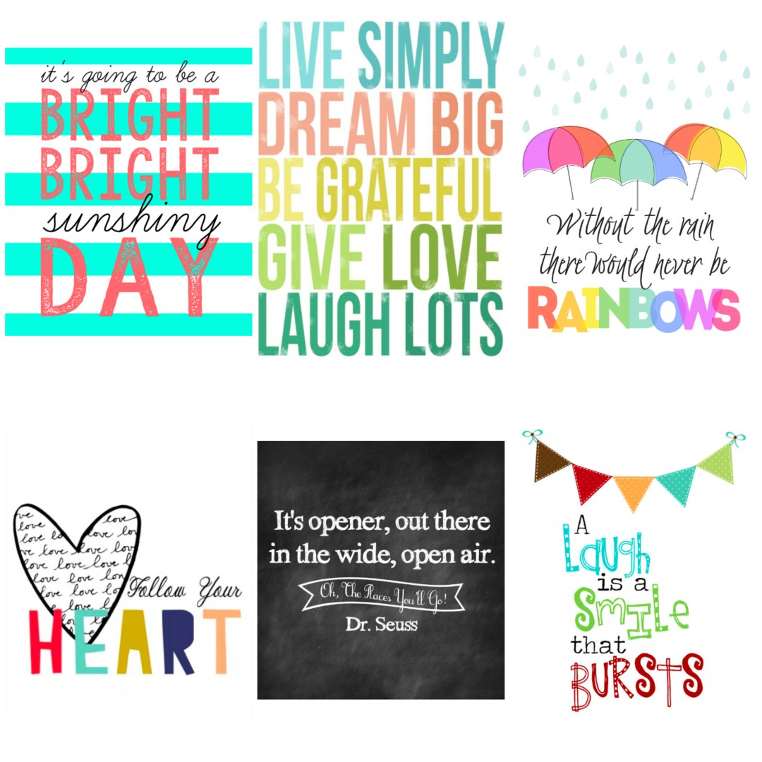 Cute quotes of love and inspiration. Free nursery art downloads.