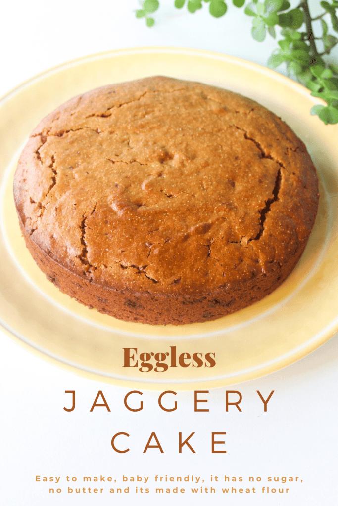 Eggless-jaggery-cake