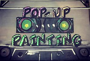 pop up painting in brewery