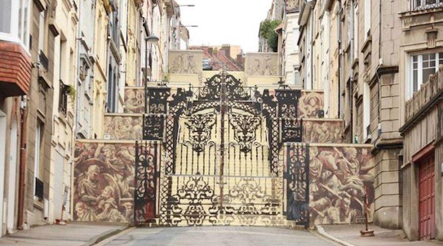 illusione ottica Francia street art