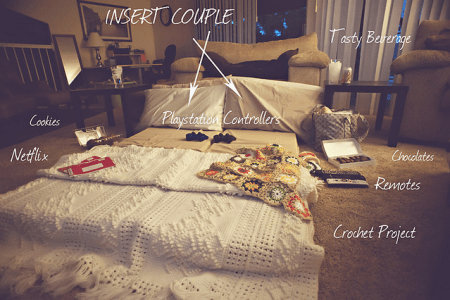 imágenes de cheap stay at home date ideas