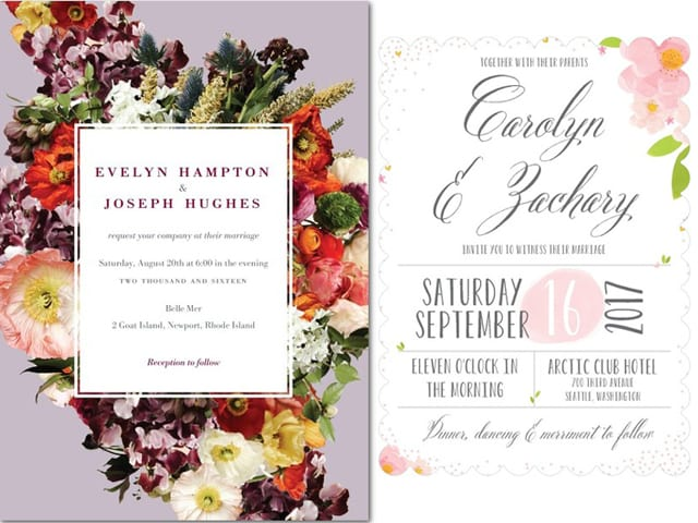 Inspiration For Spring 2017 Invitations