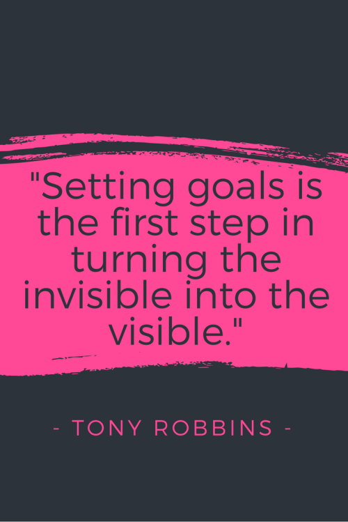 Tony Robbins Quotes - Setting goals is the first step in turning the invisible into the visible.