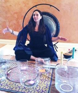 lea garnier, sound healing, yin yoga