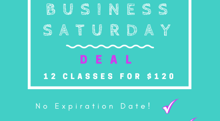 Small Business Saturday deal, special, yoga, the yoga house