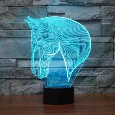 3D Optical Horse LED ILLUSION LIGHT