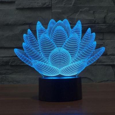 3DLotus Flower Led ILLUSION Hologram