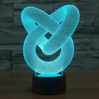 3D Optical Illusion Love Knot Night Light