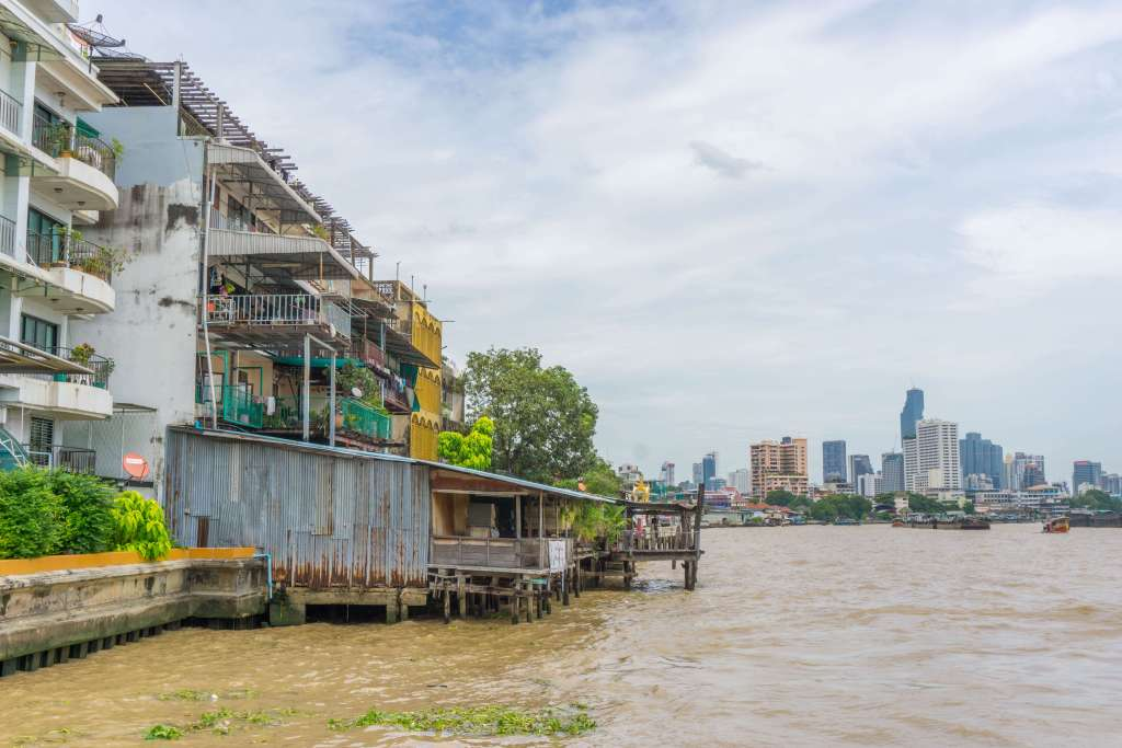 business district seen from the river - Bangkok 4 days itinerary for 1st timers