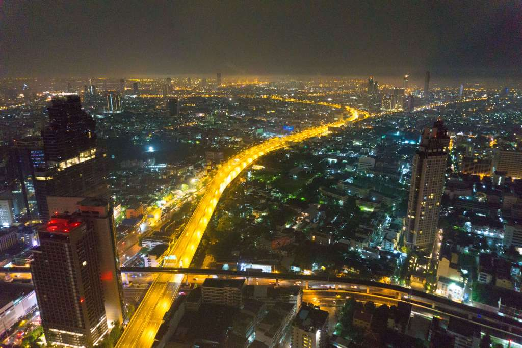 view from Sky Bar - Bangkok 4 days itinerary for 1st timers