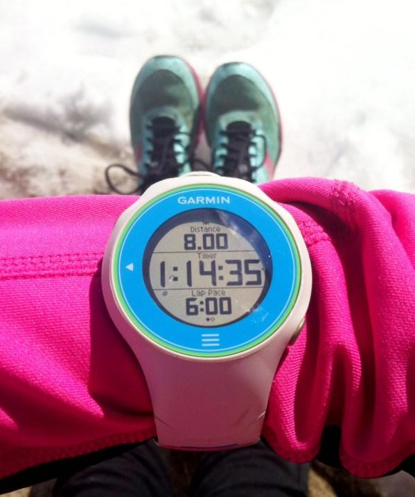 8 mile garmin run