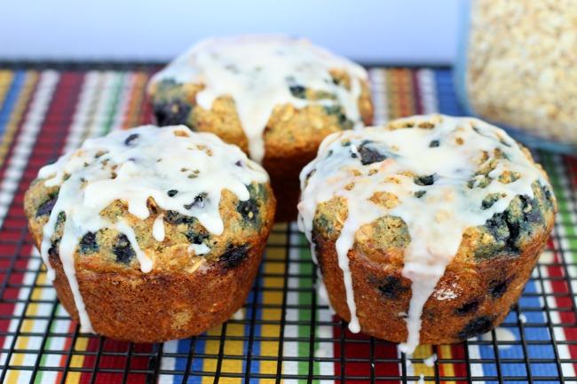 Jumbo Oatmeal Blueberry Muffins