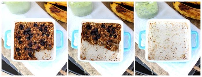 Blueberry Banana Oatmeal Bake Collage