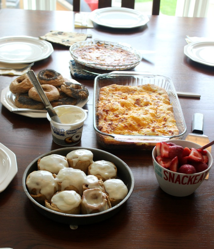 brunch spread