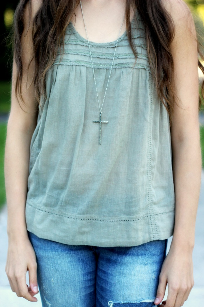 adorable cross necklace