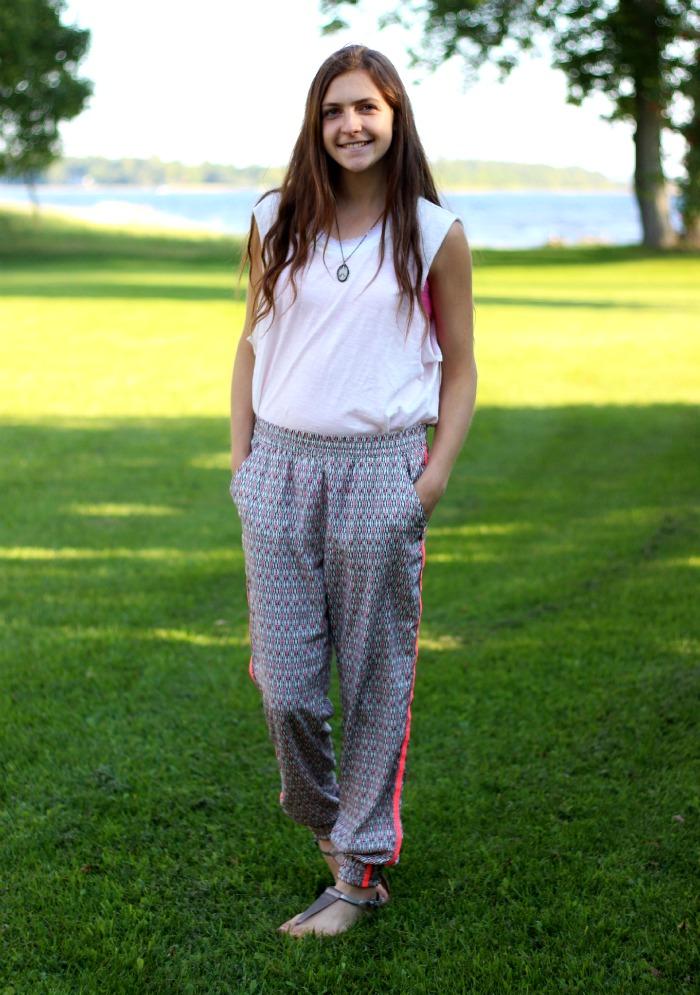 adorable long silky pants