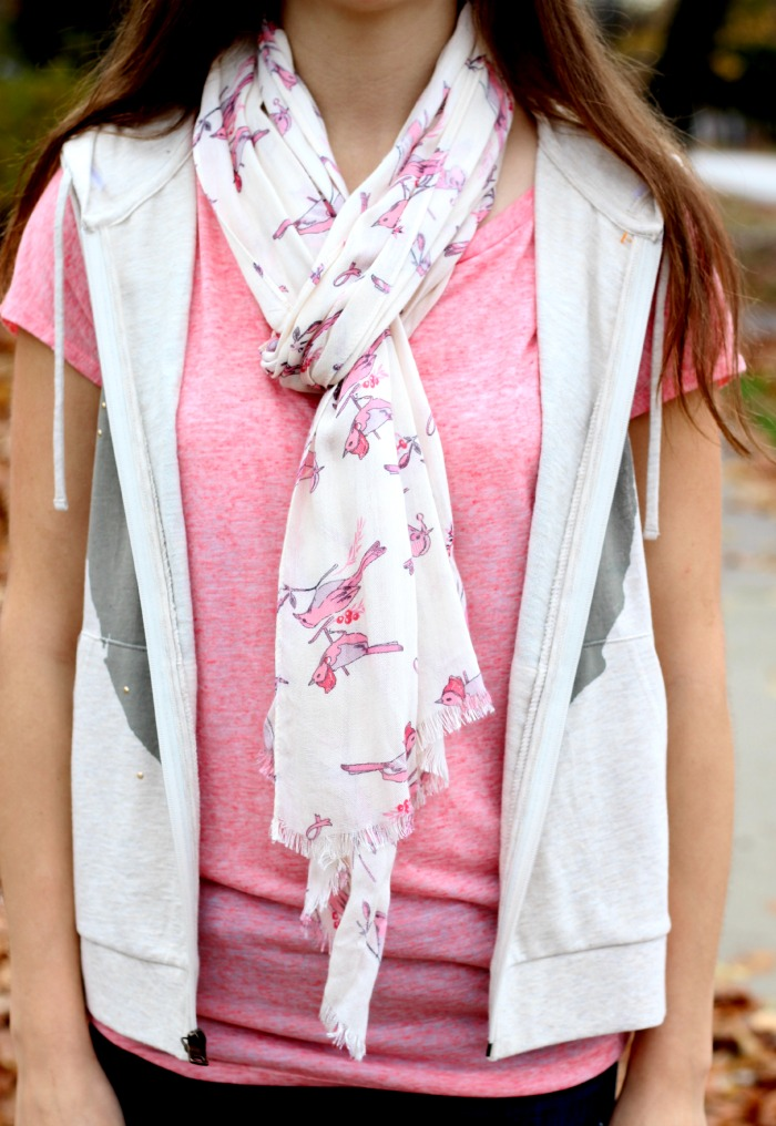bird scarf breast cancer awareness