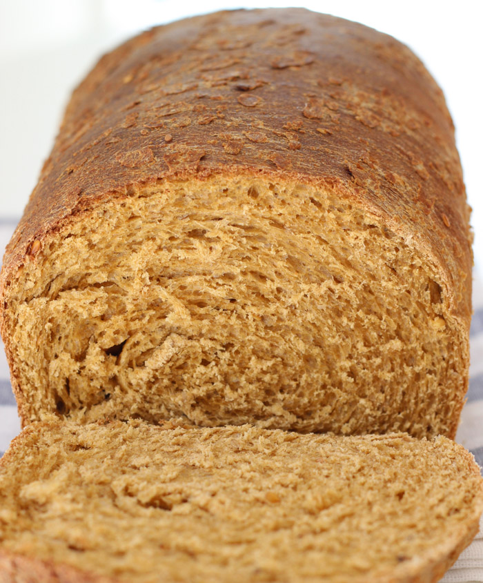 Seed and Wheat Bread with sesame and flax seeds-4