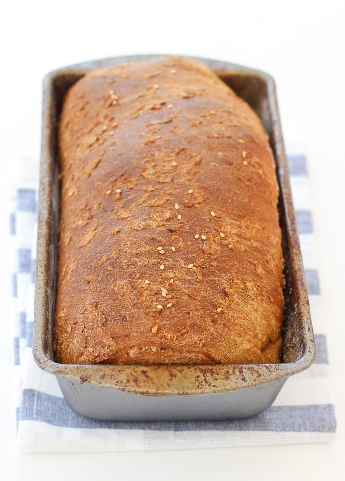 Seed and Wheat Bread with sesame and flax seeds