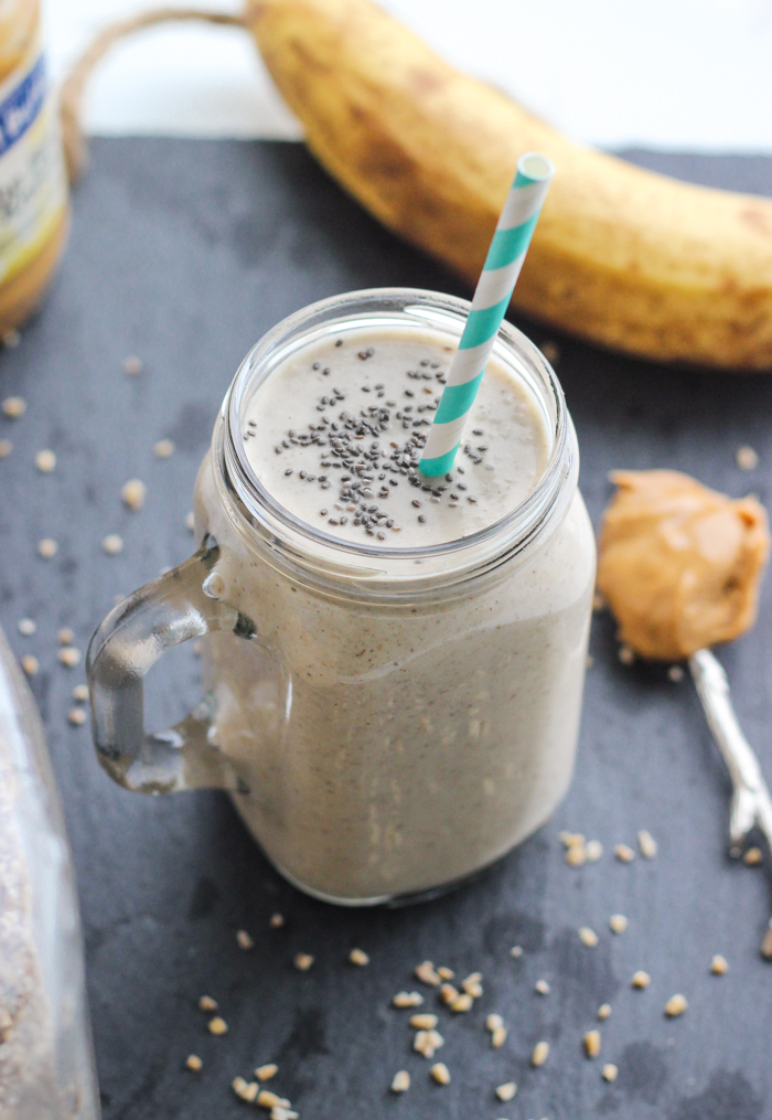 Peanut Butter Banana Oatmeal Smoothie-2