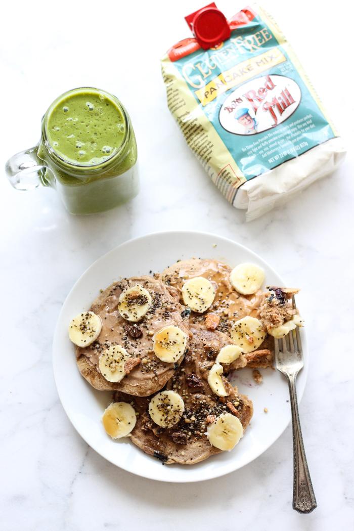 gluten free bobs redmill pancakes green smoothie