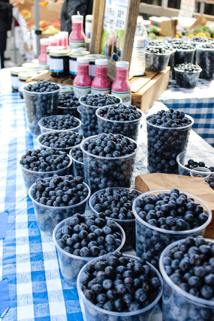 fresh beautiful blueberries