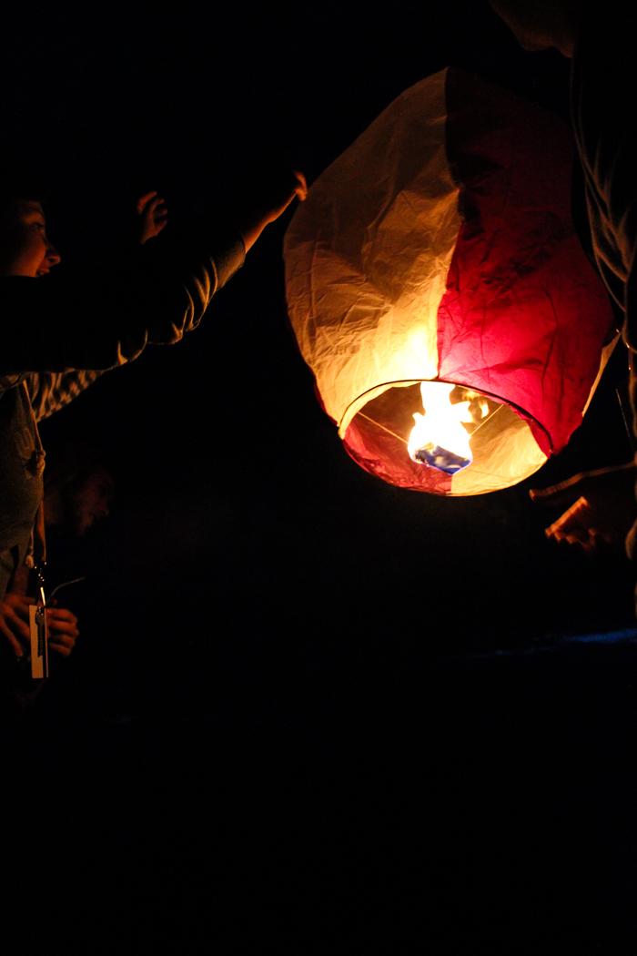 lanterns lifting off